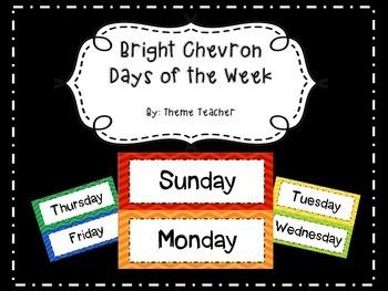 Bright Chevron Days of the Week