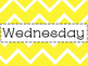Bright Chevron Days of the Week