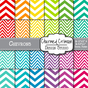 Bright Chevron Digital Paper 1185