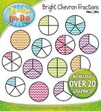 Bright Chevron Fractions Clipart {Zip-A-Dee-Doo-Dah Designs}