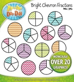 Bright Chevron Fractions Clipart {Zip-A-Dee-Doo-Dah Designs}
