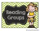 Bright Chevron Guided Reading Clip Chart