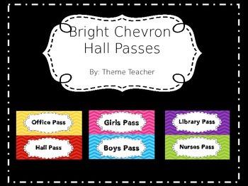 Bright Chevron Hall Passes