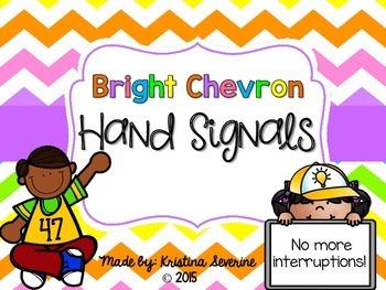Bright Chevron Hand Signals {FREEBIE}