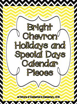 Bright Chevron Holiday Calendar Pieces