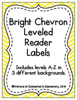 Bright Chevron Leveled Reader Labels