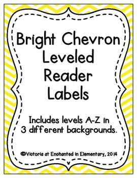 Bright Chevron Leveled Reader Labels