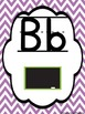 Bright Chevron (Lined Print) Alphabet Cards