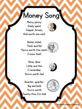 Bright Chevron Money Posters