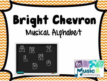 Bright Chevron Musical Alphabet