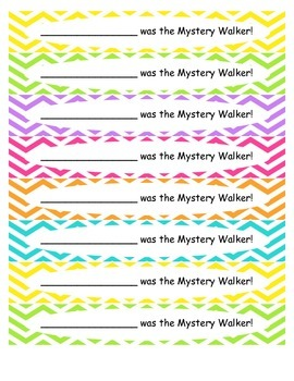 Bright Chevron Mystery Walker Set