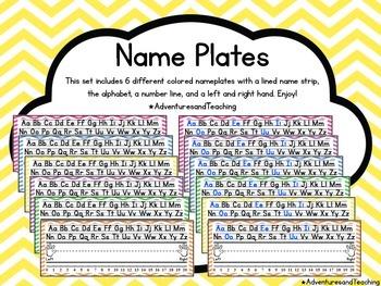 Bright Chevron Desk Name Plates