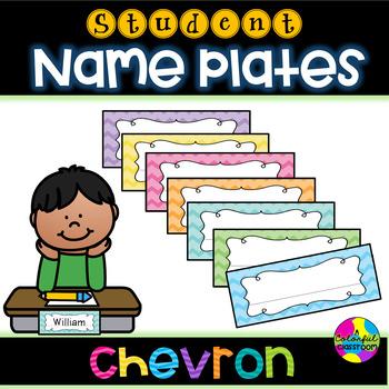 Bright Chevron Name Plates