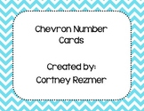 Bright Chevron Number Cards