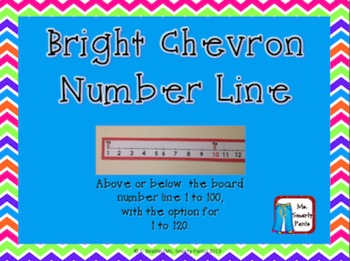 Bright Chevron Number Line