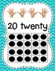 Bright Chevron Number Signs / Posters with Ten Frames and Fingers