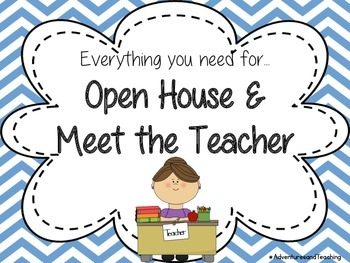 Bright Chevron Open House and Meet the Teacher Bundle