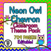 Chevron Classroom Theme Decor / Organization - Mega Bundle (Editable!) -  Owl
