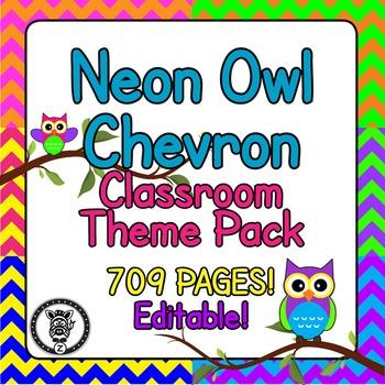 Chevron Classroom Theme Decor / Organization - Mega Bundle
