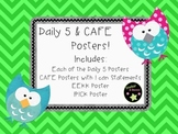 Bright Chevron & Owl Themed Daily 5 & CAFE Posters w/EEKK & IPICK