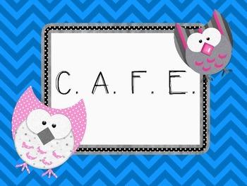 Bright Chevron & Owl Themed Daily 5 & CAFE Posters w/EEKK & IPICK