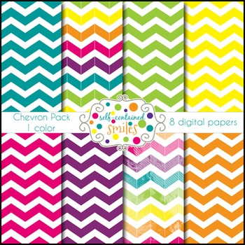 Bright Chevron Papers- One Color