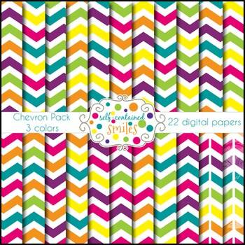 Bright Chevron Papers- Three Colors