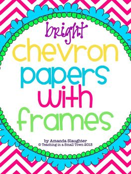 Bright Chevron Papers with Frames