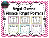 Bright Chevron Phonics Target Posters