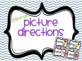 Bright Chevron Picture Direction Cards and Numbers