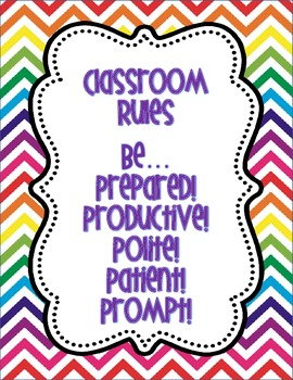 Bright Chevron Rules Posters