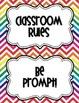 Bright Chevron Rules Posters