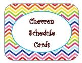 Bright Chevron Schedule Cards