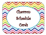 Bright Chevron Schedule Cards