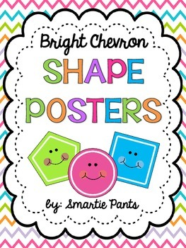 Bright Chevron 2D Shape Posters