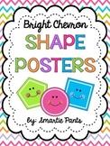 Bright Chevron 2D Shape Posters