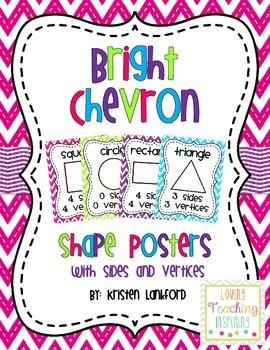 Bright Chevron Shape Posters