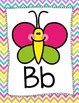 Bright Chevron ABC Posters {Smiley Face}
