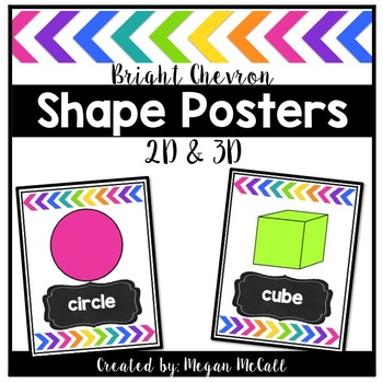 Bright Chevron Shape Posters