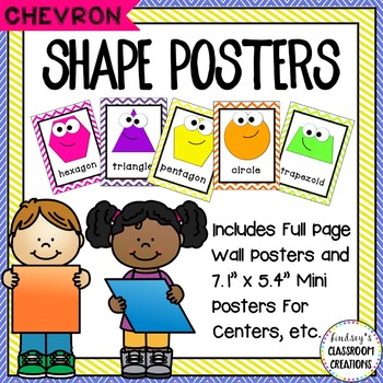 Shape Signs / Shape Posters - Chevron - Full and Half Page