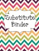 Bright Chevron Teacher Binder Covers