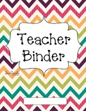 Bright Chevron Teacher Binder Covers