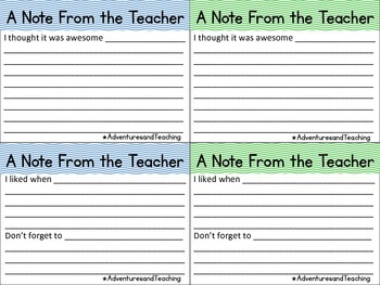 Bright Chevron Teacher Response & Advice Cards FREEBIE
