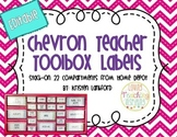 Bright Chevron Teacher Toolbox Labels