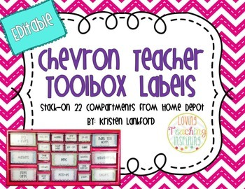 Bright Chevron Teacher Toolbox Labels