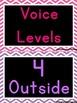Bright Chevron Voice Levels Posters / Clip Chart {Black Ba