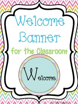Bright Chevron Welcome Banner