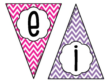 Bright Chevron Welcome Pennant Sign FREEBIE