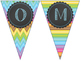 Bright Chevron Welcome Pennant Signs - Pre-K to 5th