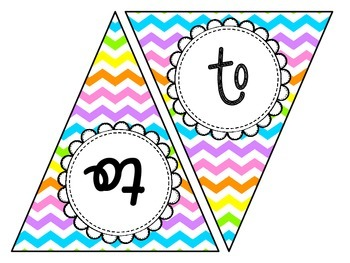 Editable Bright Chevron Welcome Pennants